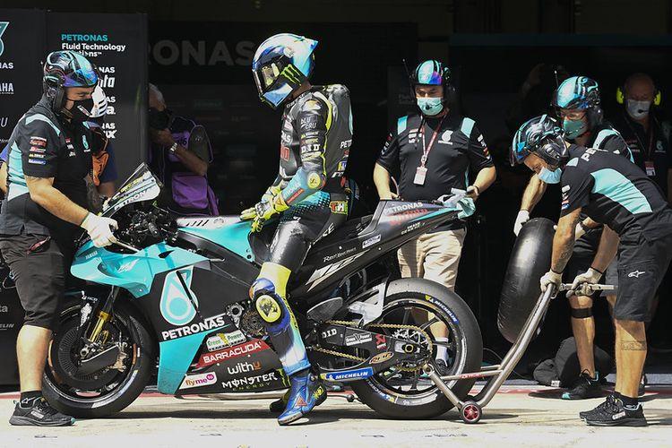 Valentino Rossi saat berlaga pada MotoGP Austria 2021