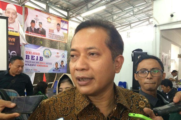 Juru Bicara BPN Ferry Juliantono di Seknas Prabowo-Sandiaga, Jakarta Pusat, Selasa (12/3/2019).