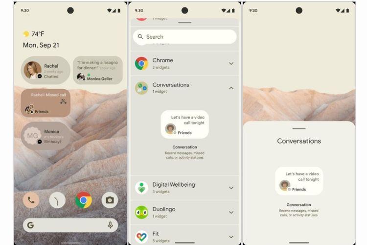 Bocoran tampilan Android 12.