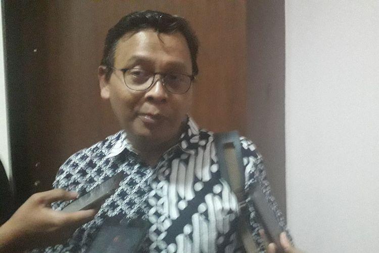 Ketua Lembaga Kajian dan Pengembangan Sumber Daya Manusia Nahdlatul Ulama (Lakpesdam NU) Rumadi Ahmad usai sebuah acara diskyusi di kawasan Matraman, Jakarta Timur, Kamis (22/8/2019).