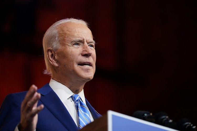 Presiden terpilih Joe Biden berbicara pada hari Rabu, 25 November 2020, di Wilmington, Delaware, AS.