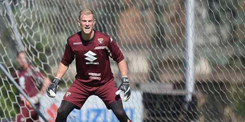 Joe Hart menjalani sesi latihan bersama Torino, 9 September 2016.