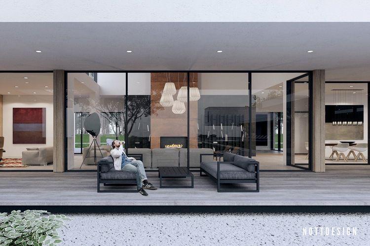Inspirasi rumah berdinding kaca glassdoor
