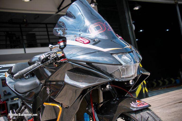 Suzuki GSX-R150 dibalut bodi dari bahan serat karbon