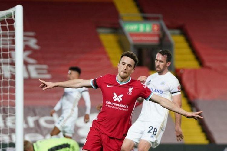 Hasil Liverpool Vs Leicester Diogo Jota Ukir Rekor Baru The Reds Menang Halaman All Kompas Com
