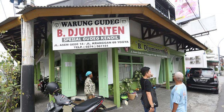 Suasana di Warung Makan Gudeg B. Djuminten, Jogjakarta, Minggu (6/8/2017).