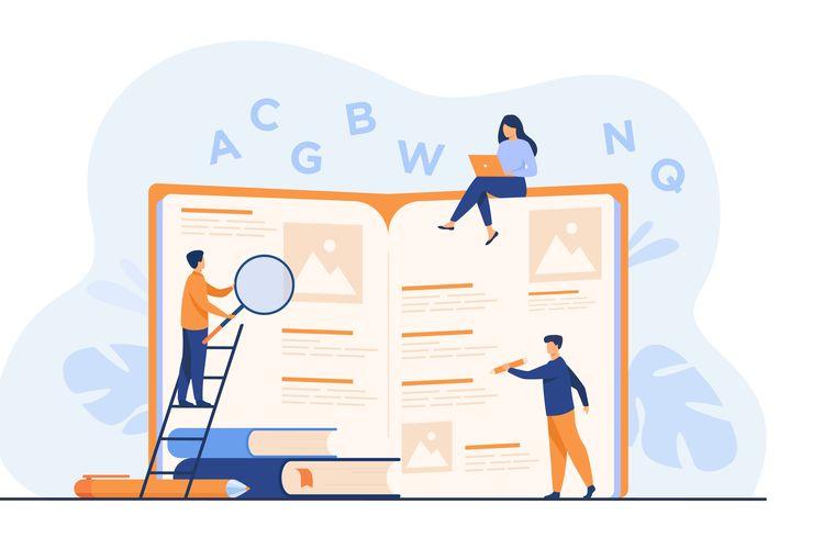 Ilustrasi pembuatan kamus