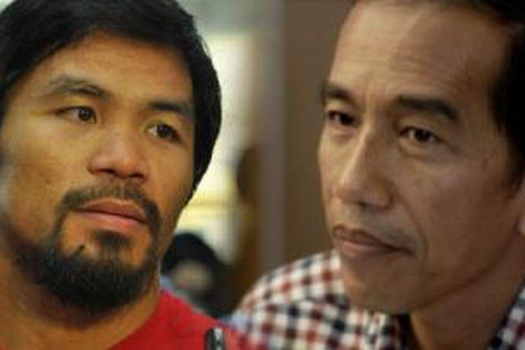 Manny Pacquiao dan Presiden Joko Widodod