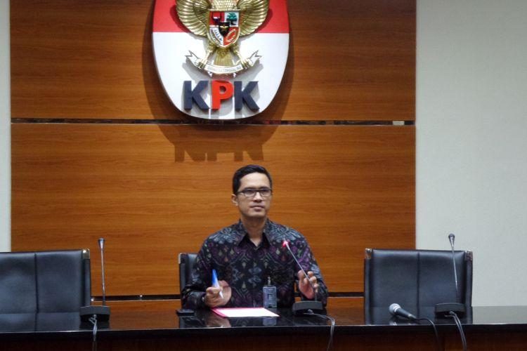 Juru Bicara KPK Febri Diansyah di Gedung KPK Jakarta, Jumat (2/6/2016).