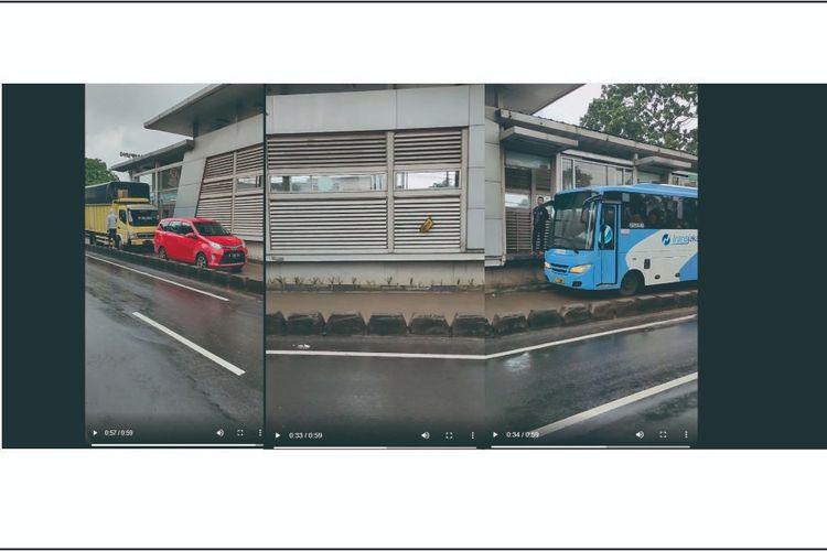 Mobil terobos jalur busway