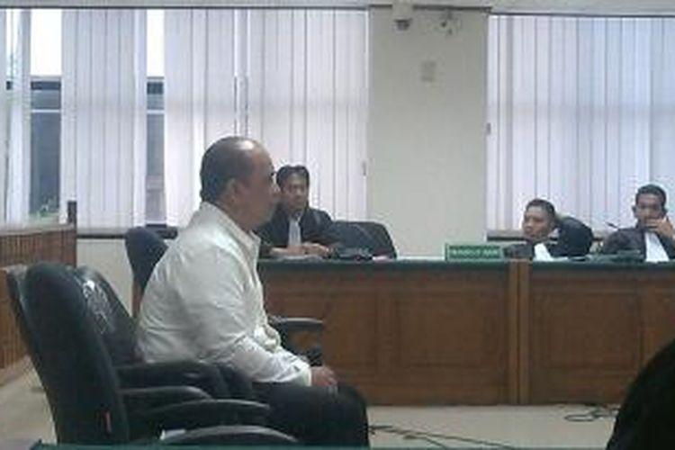 Penyuap Gubernur Riau Annas Maamun, Gulat Manurung Emas, di Pengadilan Tipikor, Jakarta, Senin (15/12/2014).