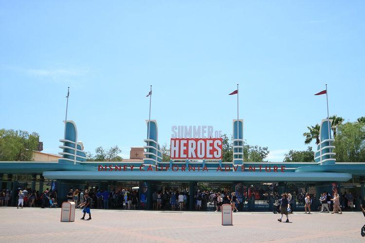 Suasana Disney California Adventure yang berlokasi di Anaheim, California, AS. Foto diambil pada Agustus 2017.