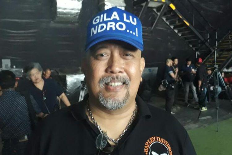 Indro Warkop di Studio Movie One, Tanah Kusir, Jakarta Selatan, pada Senin (17/4/2017).