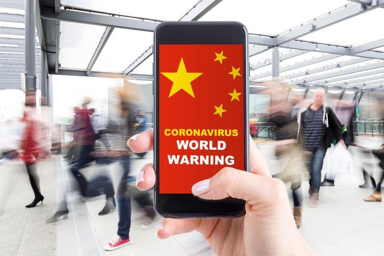 Ilustrasi virus corona