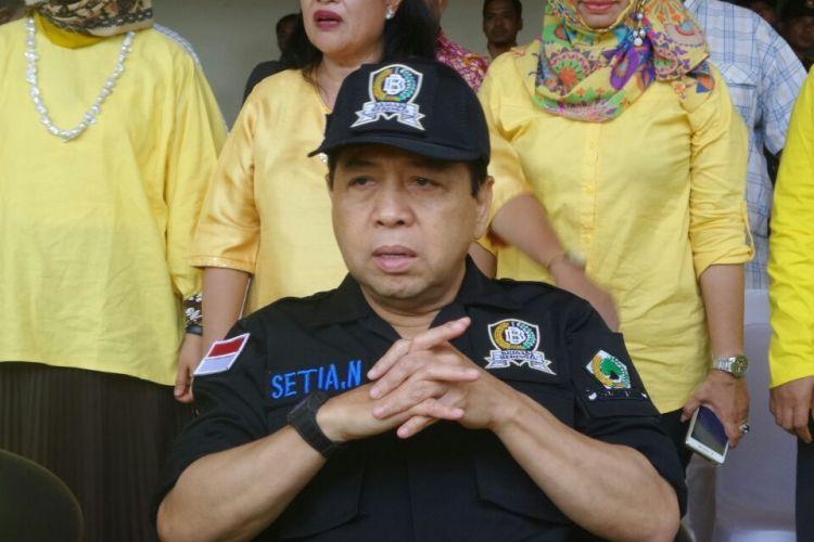 Ketua Umum Partai Golkar Setya Novanto di Kantor DPP Partai Golkar, Slipi, Jakarta Barat, Jumat (10/3/2017).
