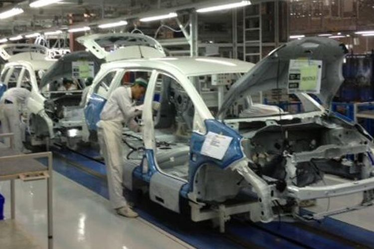Ilustrasi Pabrik Honda Prospect Motor di Karawang, Jawa Barat.