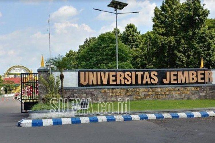 Pintu gerbang masuk Universitas Jember.