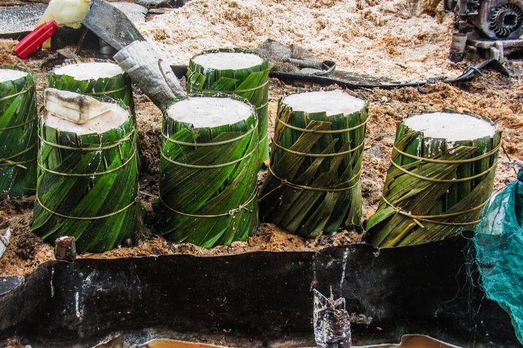Ilustrasi tepung sagu basah