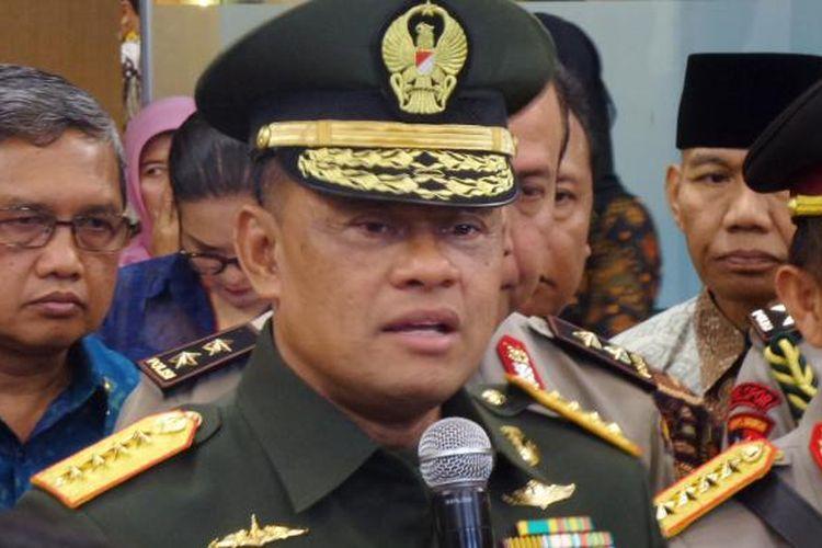 Panglima TNI Jenderal Gatot Nurmantyo di Kantor Kemenko Polhukam, Jakarta, Kamis (28/7/2016).