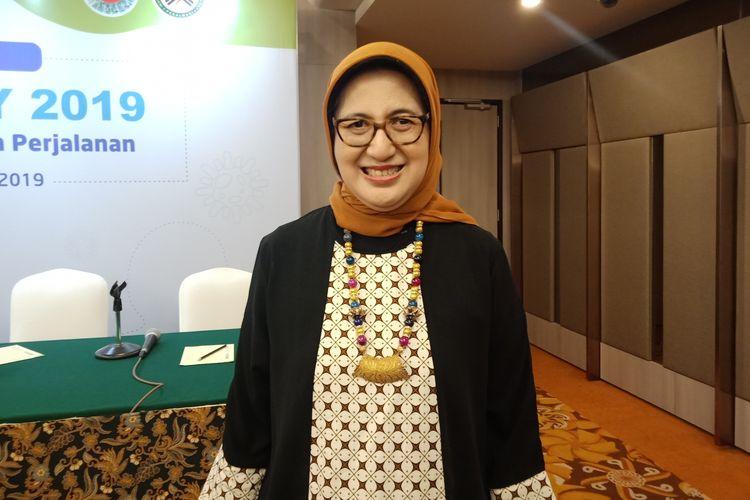 Ketua Perhimpunan Alergi-Imunologi Indonesia, Prof. Dr. dr. Iris Rengganis, SsPD, K-AI, FINASIM seusai acara media gathering di Hotel Borobudur, Jakarta Pusat, Senin (25/11/2019).
