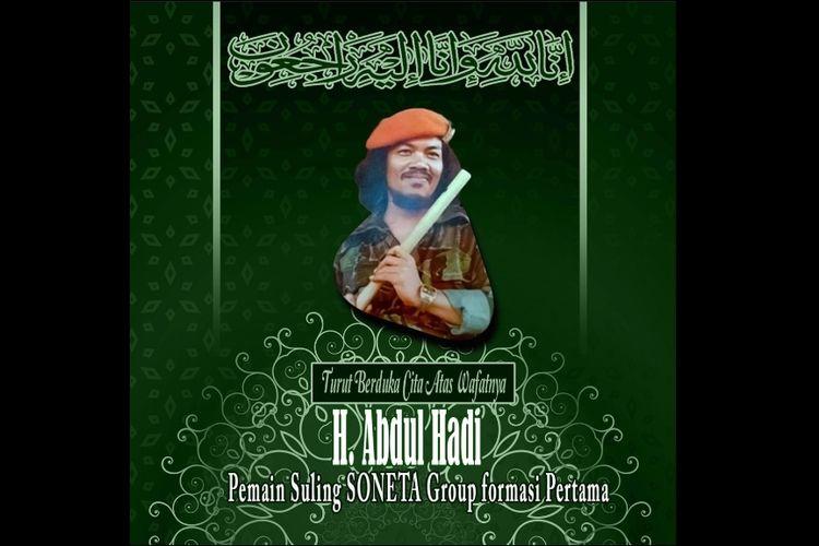 Haji Abdul Hadi, pemain suling SONETA.