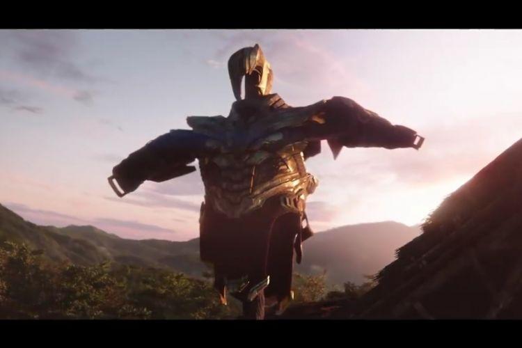 Baju zirah milik Thanos tampak dijadikan sebagai scare crow di dalam film Avengers: Endgame.