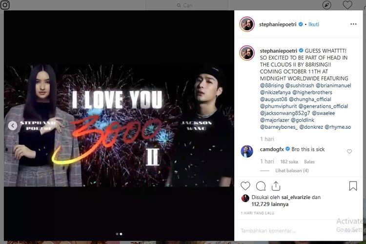 Stephanie Poetri dan Jackson Wang berkolaborasi dalam lagu I Love You 3000 II.