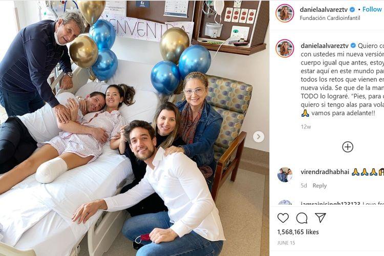 Daniela Alvarez, Miss Kolombia 2011 yang kaki kirinya diamputasi karena komplikasi dari operasi rutin untuk menghilangkan benjolan di perutnya.