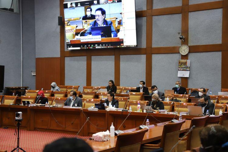 Rapat Dengar Pendapat (RDP) Komisi X DPR dengan Perpusnas di Gedung DPR RI, Senayan, Jakarta, pada Kamis (26/8/2021).