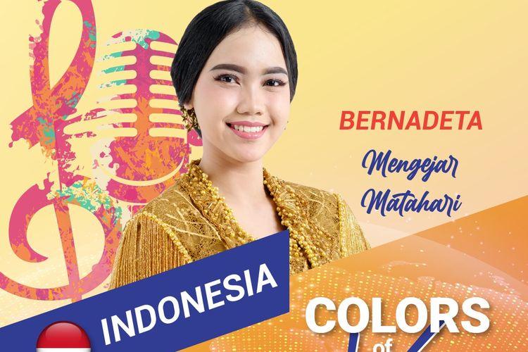 Siswi SMAN 2 Madiun Jawa Timur, Bernadeta Salwa Nirina Kaylasari, menjadi satu-satunya wakil Indonesia diajang International Festival of Language and Culture atau IFLC 2021.