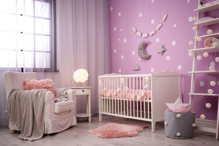 Ilustrasi dinding kamar bayi.