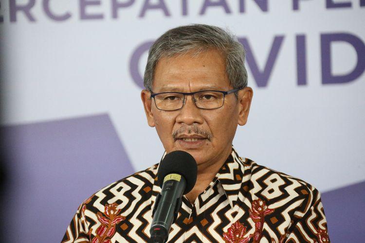Juru Bicara Pemerintah untuk Penanganan Covid-19 Achmad Yurianto di Graha BNPB, Jakarta, Rabu (27/5/2020).