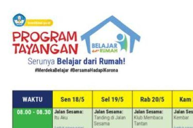 Program tayangan serunya Belajar dari Rumah di TVRI saat libur Lebaran.