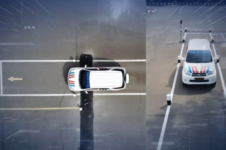 Pembuatan SIM yang menggunakan sistem E Drives dengan menggunakan empat sensor elektronik