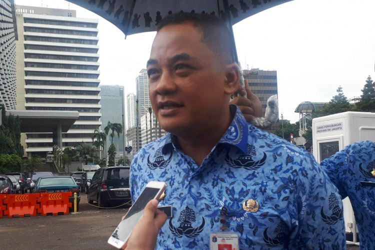 Wali Kota Jakarta Pusat Bayu Meghantaradi Park and Ride, Jalan MH Thamrin 10, Jakarta Pusat, Rabu (26/12/2018).