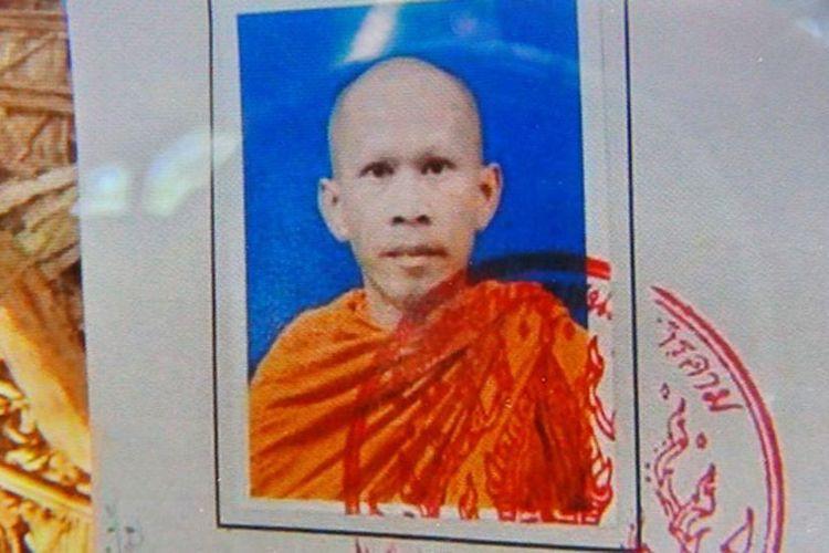 Prapop Chanphaikhor, biksu di kawasan pusat Thailand yang ditemukan tewas setelah diinjak gajah liar.