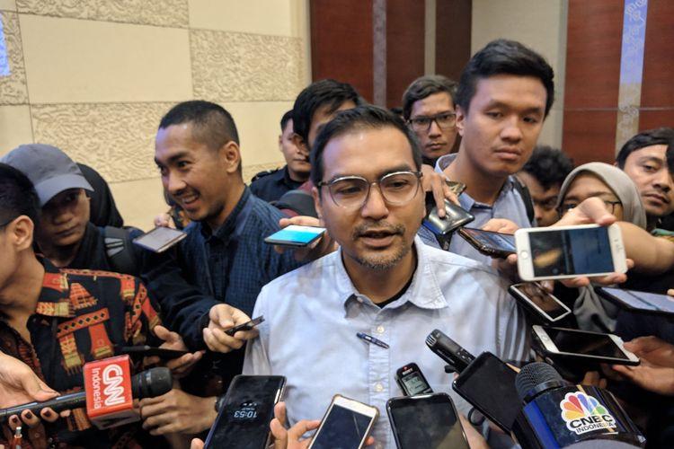 Plt Direktur Utama Garuda Indonesia, Fuad Rizal di Garuda Management Building Bandara Soekarno-Hatta, Jumat (27/12/2019).
