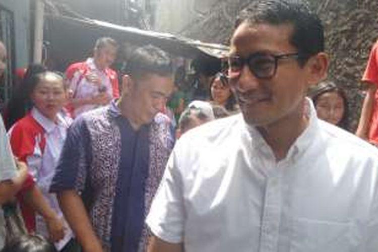 Jumat (3/6/2016), bakal calon gubernur DKI, Sandiaga Uno mendatangi warga di Kelurahan Pademangan Barat RT 4 RW 10