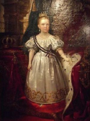 Ratu Isabella II saat masih anak-anak. (history of royal women)
