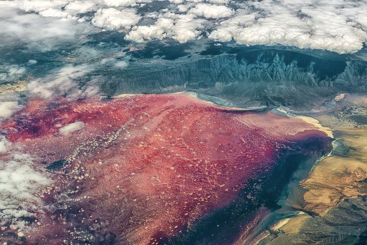 Danau Natron di Tanzania.