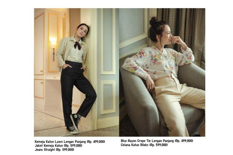 Inspirasi gaya Parisian Chic ala Julie Estelle dalam balutan busana Uniqlo dan Ines de la Fressange.