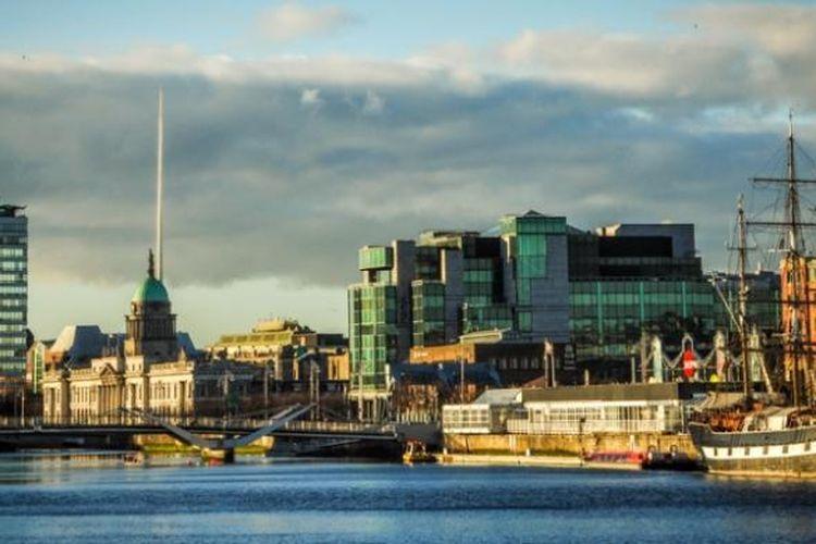 Pemandangan salah satu sudut ibu kota Irlandia, Dublin.