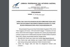 Jadwal dan Lokasi Tes SKD CPNS LAPAN, Cermati Ketentuan Tesnya Juga