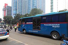 Bus Transjabodetabek Terjaring Razia Patuh Jaya di Jakarta Timur
