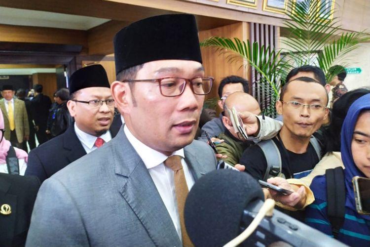 Gubernur Jawa Barat Ridwan Kamil saat ditemui di Gedung DPRD Jabar, Jalan Diponegoro, Kamis (3/10/2019).