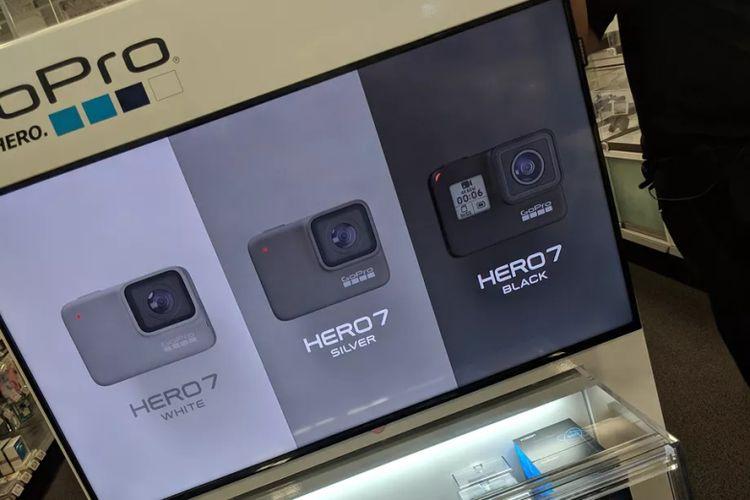 Penampakan GoPro Hero 7 di display toko Best Buy