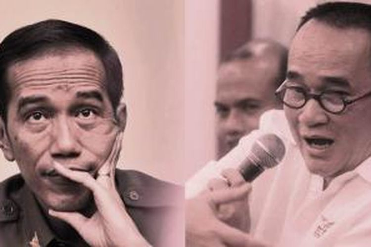 Gubernur DKI Jakarta Joko Widodo dan Politisi Demokrat Ruhut Sitompul