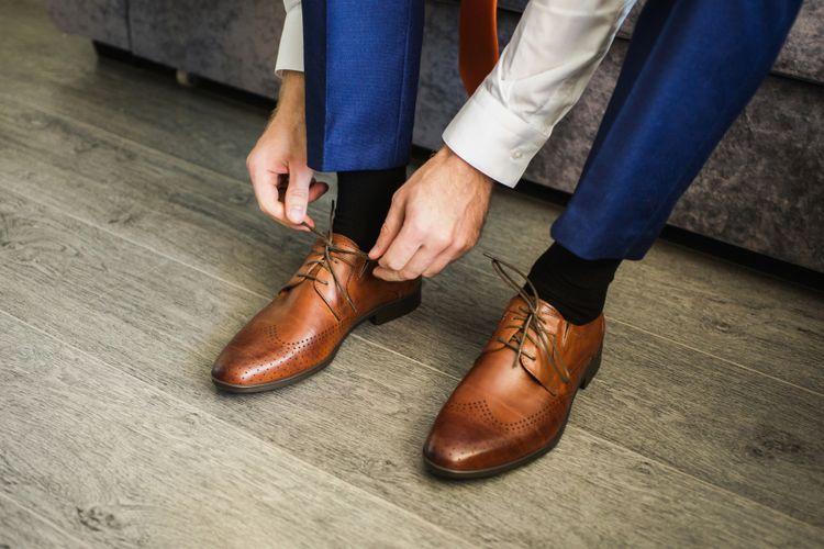 Ilustrasi sepatu yang bersih
