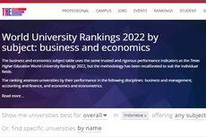10 Kampus Jurusan Ekonomi-Bisnis Terbaik Indonesia 2022 Versi THE