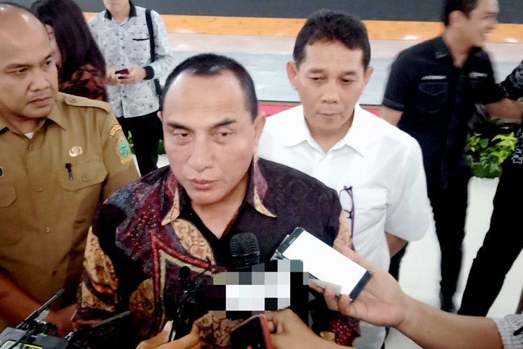 Gubernur Sumatera Utara Edy Rahmayadi mengatakan, dua hal yang menjadi fokus pembangunannya yaitu percepatan tender serta proyek pembangunan Mebidangro, Rabu (20/11/2019)
